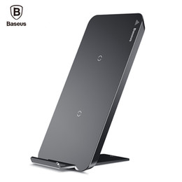 Wholesale Note Dock Station - Baseus Qi Wireless Charger For iPhone X Samsung Note 8 S8 Plus S7 S6 Edge Phone Fast Wireless Charging Docking Dock Station