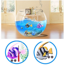 Wholesale New Robo - 2017 New Clown Fish Kids Silver Bath Toys Electronic Robo Fish Pets Robotic Fish Gifts Item for Children