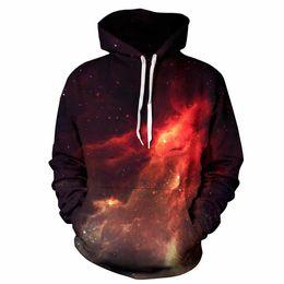 Wholesale Womens Red Sweatshirt - wholesale galaxy hoodies mens pullover 3d print popular hoodies mens fashion hoodie womens sweatshirts loose big size 3xl size hoodie