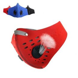 Wholesale atv skis - 3 Colors Outdoor Sport Bicycle Riding Cycling Anti Dust Motorcycle ATV Ski Half Face Mask Filter Dustproof Mouth-muffle CCA8012 150pcs