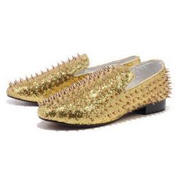 Wholesale Elegant Denim Dresses - Elegant Red Bottom Loafers Shoes Spikes Casual Shoes,Fashion Slip-On Low Top Platform Sneakers,Business Wedding Dress Shoes 35-46