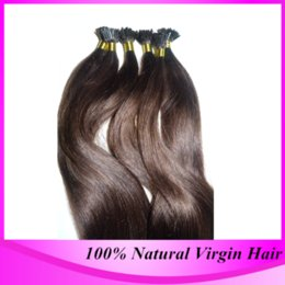 """Wholesale Tipped Extensions - Prebonded I tip Hair Extensions1g s12""""-24""""Brazilian Hair Straight Stick I tip Hair Extensions cabelo humano tic tac"""