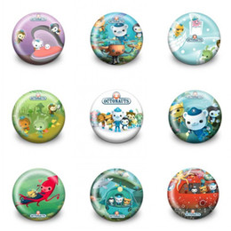 Wholesale Adventure Clothing - 18PCS The Octonauts Adventure Time Cartoon Round Buttons Pin Badges 30MM Round Accessory Badges Party Favor Kid Gift Clothes Bag Accessories