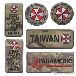 Wholesale zombie patches - Zombie Response Team Keep Calm US ARMY Patch Tactical Badge Morale Patches Hook & Loop 3D 100% Embroidery Army Badges free ship