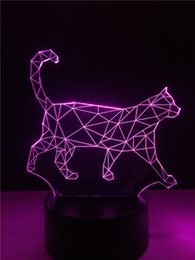Wholesale Dog Desk Lamp - 7 color changing Dog Creative 3D LED Mood Night Light Desk Table Party Christmas New Year Bedroom Decor Lamp Child Kids Gifts