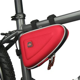 Wholesale Insulated Tube - 3 Colors Waterproof CBR 1.5L Outdoor Triangle Cycling Bicycle Front Tube Frame Bag Mountain Bike Pouch Freeshipping