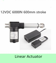 Wholesale Controller Dc Motor - Heavy Load Capacity 600KGS  6000N 12volt DC 24inch 600mm stroke length speed 4mm s linearactuator with wireless controller full set