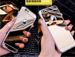 Wholesale S4 Case Chrome - For iphone SE 5 5s 6 6s plus Mirror Electroplating Chrome Ultrathin Soft TPU Phone Case Cover For Samsung Galaxy s6 s7 Edge s4 s5 note 5