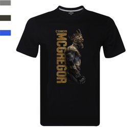 Wholesale Cheap Cotton Tees - Conor Notorious McGregor King T-shirt Irish Pride Team MC Boxing Champing Tee Short Sleeve Cheap Sale Cotton T Shirt