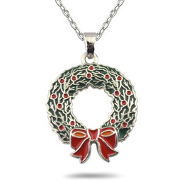 Wholesale Wreath Easter - Christmas wreath gift vintage necklace