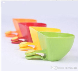 Wholesale Pepper Clip - Wholesale-4Pcs Seasoning dish kitchen bowl tool Dip Clips Dip and Clip relish plate Pepper easy clean PJJ0270W*41