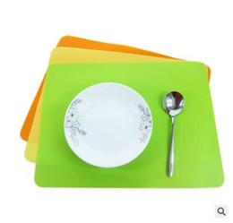 besteck steht Rabatt 8 farben Matte Silikon Verdicken 40 * 30 cm Reine Farbe Küche Schublade Dinning Bowl Pad Mat Tabellen Untersetzer rutschfeste matte Neueste