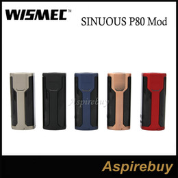 Wholesale Hidden Battery - Wismec SINUOUS P80 Box Mod 80W Compact Single 18650 Battery Hidden Fire Button with 0.96-inch Screen for Elabo Mini 100% Original