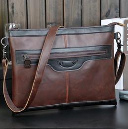 Wholesale Retro Shoulder Hand Bag - Factory direct brand bag tide hit color leather men hand bag leather shoulder bag man fashion classic retro casual business bag