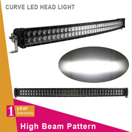 Wholesale Lights For Camper - 42inch 240W Dual Row Curved Spot Flood Combo Beam Light Bar Work Light for 4WD AWD Off-Road Truck SUV Wagon Van Camper Camber