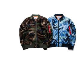 Roupas de camuflagem swag on-line-2017 Moda jaqueta fina Mens Hiphop Rua Swag Hoodies Bomber Jacket Ma1 Camuflagem Estilo de Marca de Qualidade de Roupas Casaco Militar