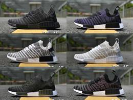 Wholesale Vintage Blue Shoes - NMD R1 2017 City Sock Black Vintage White OG Primeknit SUP Nice Kicks Triple Black Women Men Nmds Runner Running Shoes 36 45