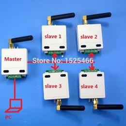 Wholesale Master Serial - 1 master 4 slave 433M Wireless RS485 Bus RF Serial Port UART Transceiver Module DTU for PTZ Camera PLC Modbus RTU LED Controller