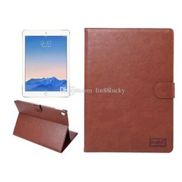 Wholesale Deluxe Leather Wallet - For ipad pro 9.7inch Deluxe Retro Leather wallet flip cover For ipad pro 9.7'' Vintage Wallet Case With Card Slot Cover