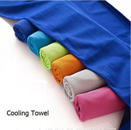 Wholesale Cool Towels - 90*35cm Double Layer Ice Cold Towel Cooling Summer Sunstroke Sports Exercise Cool Quick Dry Soft Breathable Cooling Towel for Kids Adult