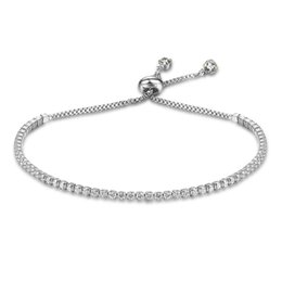 Wholesale Gold Color Charms - Fashion Charm Tennis Bracelets Gold Silver Color Adjustable Bracelets For Women 2mm Cubic Zirconia Blacelets Bangles