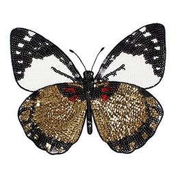 Wholesale Wholesale Sequin Glasses - High Quality Exquisite Beads Applique Fashion Sequins Glasses Butterfly Patches Clothes Decoration Trims DIY Accessory YR0100
