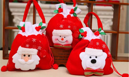 Wholesale Child Xmas - Fashion Christmas Gift Santa style Christmas Decoration Christmas Wedding Candy Bags Lovely Gifts Xmas Bag For Children