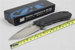 Canada Outil de camping tolérance zéro 0566CF Hinderer Folder couteau en fibre de carbone avec vitesse Safe D2 60HRC lame G10 poignée avec boîte de couleur F647E Offre