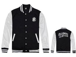 Wholesale Mans Brand Names Clothing - 2017 new BILLIONAIRE BOYS CLUB brand name fashion BBC baseball jackets for men free shipping outwear coat new hip hop mens clothing