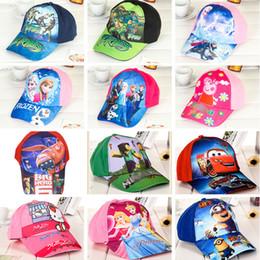 Wholesale Children Hip Hop Hat - poke Minions Frozen boys Baseball Cap Kids Sports Caps girls Cartoon Hats Beanies beanies snapback Sofia caps hip hop 601