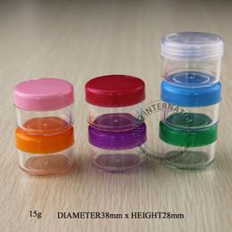 Wholesale Ps Plastic Bottles - 15g PS Cream Jar Bottle Cream Containers Split Charging Jars Cosmtic Packaging 10pcs lot