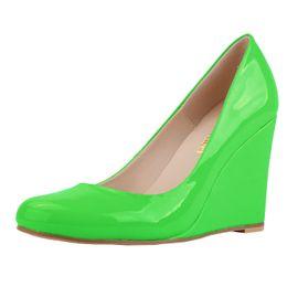 Wholesale Hot Pink Platform Pumps Shoes - New 2016 Spring summer Shoes women Wedges Platforms High heels Pumps Buckle Flock Bowtie Fashion Sexy Casual 9 Color Sale on Hot