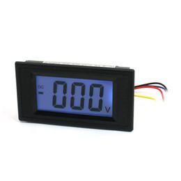 Wholesale Lcd Meter Panel - Wholesale-DC 0-500V Blue LCD Display 3-Digits Digital Panel Volt meter DC 500V Voltmeter