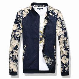 Wholesale Mens Korean Fashion Clothes - Wholesale- 2016 New Fashion Brand Jacket Men Trend Splice Korean Slim Fit Mens Designer Clothes Cotoon Men Casual Jacket Slim