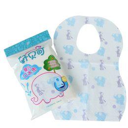 Wholesale Disposables Bibs - Wholesale- 10PCS Set baby bibs Cotton Sterile Disposable Baby Burp Cloths Print Waterproof Bibs Baby Clothing Accessories