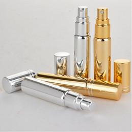 botellas de champú de aluminio al por mayor Rebajas Precio de fábrica al por mayor 10 ml de metal de aluminio de vidrio vacío Perfume botella recargable Spray Perfume atomizadores botellas envío gratis