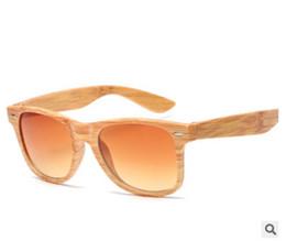 Wholesale universal mirrors - hot wood grain sunglasses box retro sunglasses men and women universal personality rice nail sunglasses mirror wood sunglass
