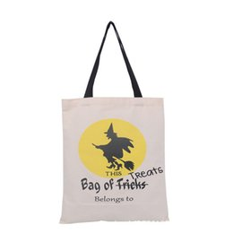 Wholesale Fun Canvas - 2017 Halloween Bag Trick or Treat Ghost Printed Canvas Bag Children Fancy Party Festival Fun Tote