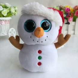 Wholesale Wholesale Kids White Beanie - SCOOP 6 INCH 15CM Ty BEANIE BOOS PLUSH TOY CUTE SNOWMAN DOLL SOFT KIDS CHRISTMAS NEW YEAR GIFT STUFFED DOLL