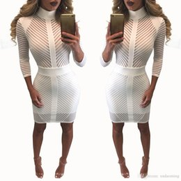 Wholesale Sexy Dresses For Womens - Goods In Stock European Sexy Mini Club Dress Denim Maxi For Womens Women Casual 2016 White Clothing Ladies Dresses
