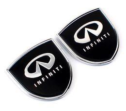 Wholesale Mark Side - 1pair 39x39mm Car Styling Infiniti Zinc Alloy Car Side Sticker Badge Emblem car sticker Mark High Qulity fit for Infliniti