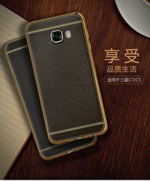 Wholesale Litchi Stria Leather Case - litchi stria Mobile phone holster, Samsung c5 c7 ultra-thin fashion mobile phone soft shell, Samsung luxury mobile phone shell