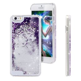 Wholesale S4 Liquid - For iPhone7 Glitter Floating Star Running Quicksand Liquid Dynamic Hard Case For iPhone 5S SE 5C 6 6 7 Plus Samsung S4 S5 S6 Edge Note 3 4 5