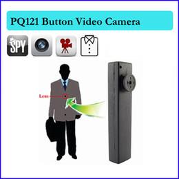 Wholesale Shirt Hidden Camera - 8GB Button camera mini dvr spy camera Camcorder Video Recorder DV Cam shirt button hidden camera take photo Free Shipping PQ121