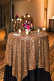 Wholesale Wedding Ideas Decorations - Great Gatsby wedding table cloth custom size round and rectangle Add Sparkle with Sequins wedding cake table idea Masquerade Birthday Party