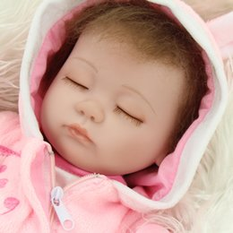 "Wholesale Reborn Kits - NPKDOLL 17"" Reborn Baby doll kits very soft Silicone Vinyl head Limbs can move for 45CM newborn dolls"