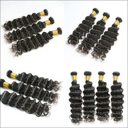 Wholesale Malaysian Tight Curly Extensions - 7A Brazilian Deep Wave Virgin Hair Sew-in Weave Unprocessed Virgin Remy Human Kinky Curly Weft Hair Extension Tight Deep Curl Weaving Bundle