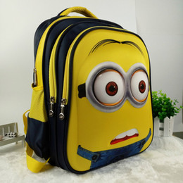 Wholesale Minion Backpacks - 16 inch New Fashion Despicable Me 2 Kids Cartoon school bags child Backpack Minions schoolbag 6-12Y Kids cute bags
