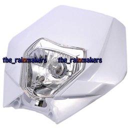 Wholesale Ktm Xcf - 1PC PCK Motorcycle Front Headlight Headlamp Plastic 12V for KTM SX EXC XCF White