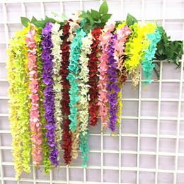 Wholesale Wholesale Silk Flowers Products - Artificial Flower ivy flowers Silk Flower Wisteria Vine flower Rattan Wedding Home Garden Party Coffee Shop Decoration Product Code:102-1009